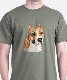 American Staffordshire Terrier Dark Color T-Shirt