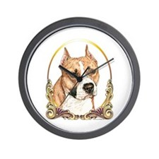 Staffordshire Terrier Christmas/Holiday Wall Clock