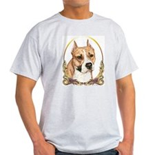 Staffordshire Terrier Christmas/Holiday Ash Grey T