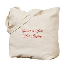 sweat-is-fat-crying-cho-red Tote Bag