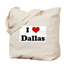 I Love Dallas Tote Bag