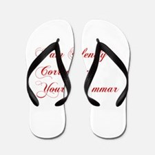 silently-correcting-grammar-cho-red Flip Flops