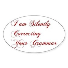 silently-correcting-grammar-cho-red Decal