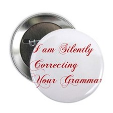 "silently-correcting-grammar-cho-red 2.25"" Button ("