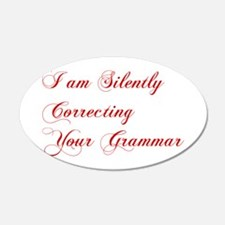 silently-correcting-grammar-cho-red Wall Decal