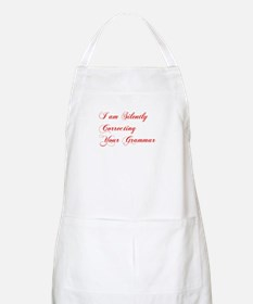 silently-correcting-grammar-cho-red Apron