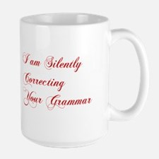 silently-correcting-grammar-cho-red Mugs