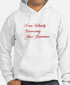 silently-correcting-grammar-cho-red Hoodie