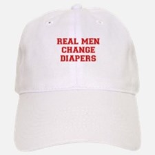 real-men-diapers-VAR-RED Baseball Baseball Baseball Cap