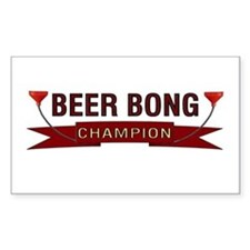 Beer Bong Champion Rectangle Decal