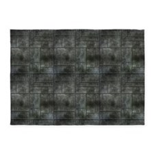 Industrial Grey Metal 5'x7'Area Rug
