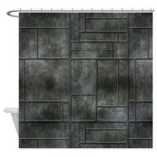 Industrial Grey Metal Shower Curtain