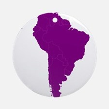 Continent of South America Ornament (Round)