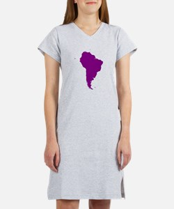 Continent of South America Women's Nightshirt