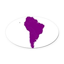 Continent of South America Oval Car Magnet