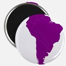 Continent of South America Magnets