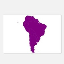 Continent of South America Postcards (Package of 8