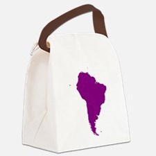 Continent of South America Canvas Lunch Bag