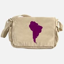 Continent of South America Messenger Bag