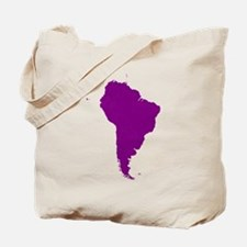 Continent of South America Tote Bag