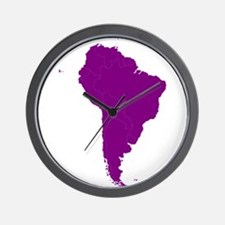 Continent of South America Wall Clock