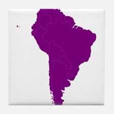 Continent of South America Tile Coaster