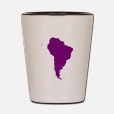 Continent of South America Shot Glass