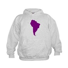 Continent of South America Hoodie