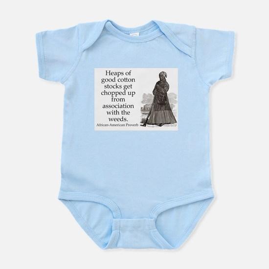 Heeps of Good Cotton Stocks Infant Bodysuit