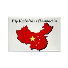 My Website is Banned in... Rectangle Magnet