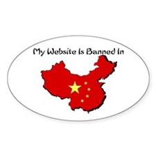 My Website is Banned in... Oval Decal