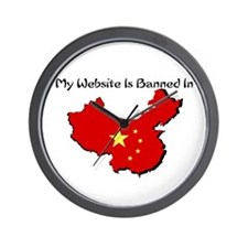 My Website is Banned in... Wall Clock