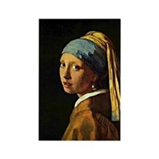 The Girl with a Pearl Earring, pa Rectangle Magnet