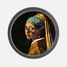 The Girl with a Pearl Earring, painting Wall Clock