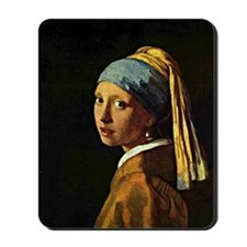 The Girl with a Pearl Earring, painting  Mousepad