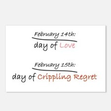 Crippling Regret Postcards (Package of 8)