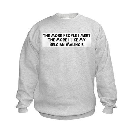 Belgian Malinois: people I me Kids Sweatshirt