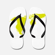 Continent of North America Flip Flops