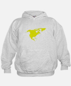 Continent of North America Hoodie