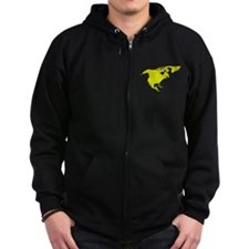 Continent of North America Zip Hoodie