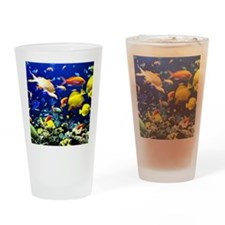 Colorful Aquatic Ocean Life Drinking Glass