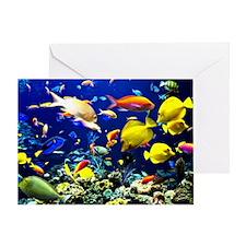 Colorful Aquatic Ocean Life Greeting Card