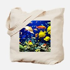 Colorful Aquatic Ocean Life Tote Bag