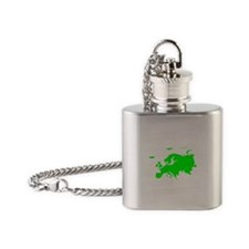 Continent of Europe Flask Necklace