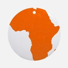 Continent of Africa Ornament (Round)
