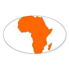 Continent of Africa Decal