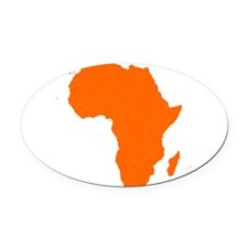 Continent of Africa Oval Car Magnet