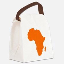 Continent of Africa Canvas Lunch Bag