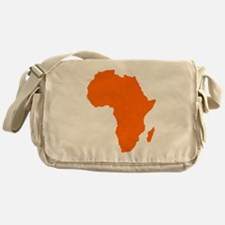 Continent of Africa Messenger Bag