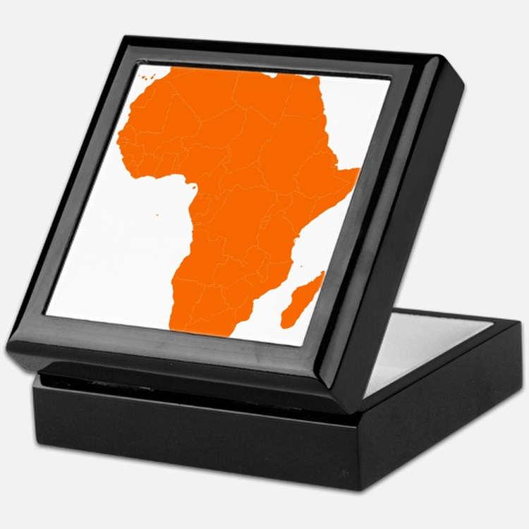 Continent of Africa Keepsake Box